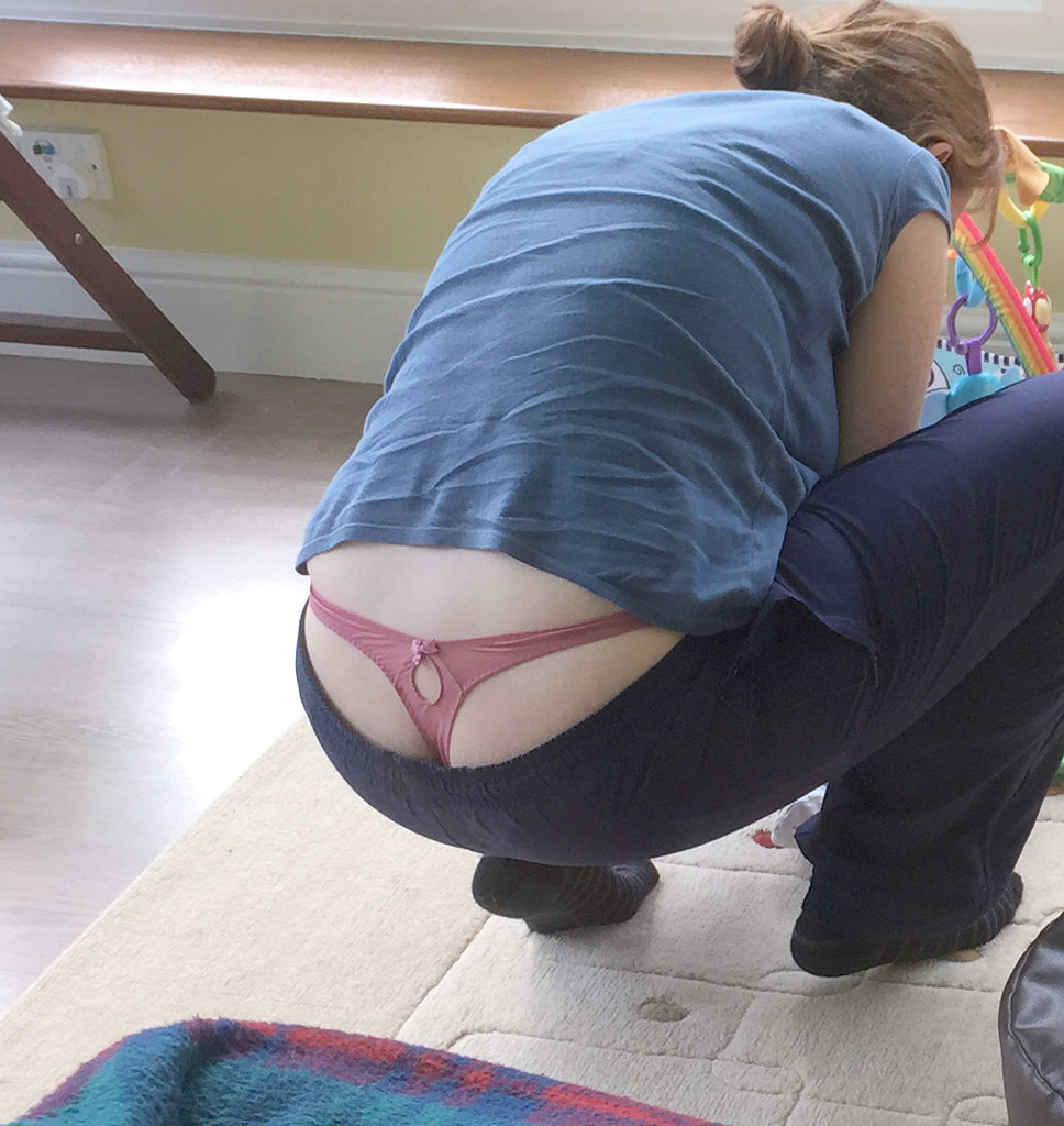 Whale Tail Thong Blowjob