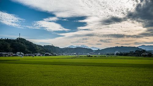 leica travel blue sunset cloud green japan 35mm f14 bluesky greenfield summilux asph kyushu m240 leicam