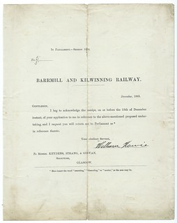 Barrmill and Kilwinning Railway support letter for building the railway 1883 | by ian.dinmore