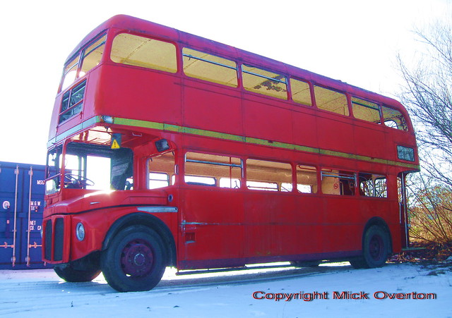 All glass smashed on 1967 AEC Routemaster RML2681