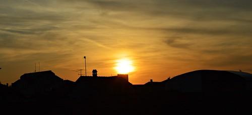 sunset sundown sun city view krusevac srbija serbia serbien