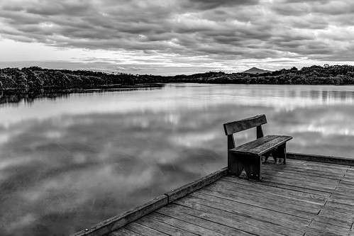 sunset blackandwhite water monochrome australia lagoon mangrove newsouthwales boardwalk urunga canonef24105mmf4lisusm canoneos6d