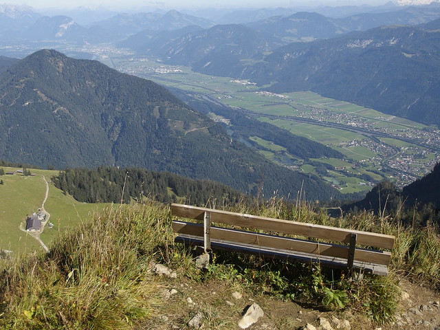 Bank Bench Sitzbank Seat Alps Alpen Österreich Tirol Tyrol (c)