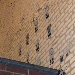 I found these old Solve stencils above a garage on Irving Park Road