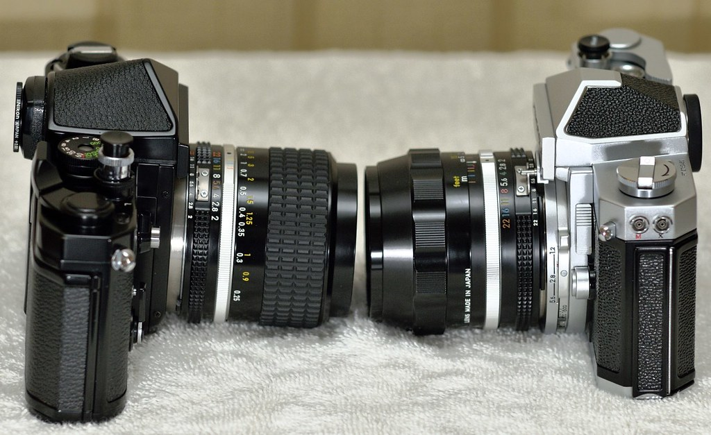 nikon nikkor 28mm 2.0 ais and N.C. on F2 and Nikomat FTN
