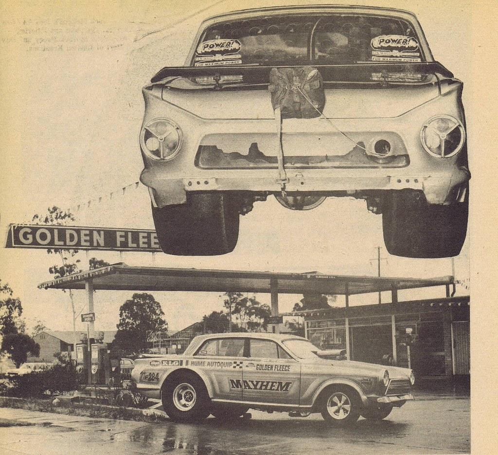 Jock McLeod's 1966 AA Gas Cortina. Golden Fleece, Woodville Rd Old Guildford NSW. 1975