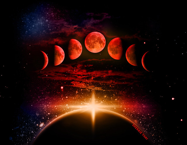 Blood Moon Phases