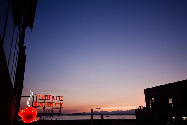 Neon Seattle Sunset