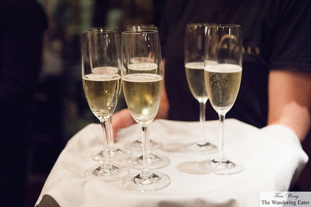 Greeted with glasses of Cuvee '61 Brut Franciaorta DOCG NV, Berlucchi, Lombardia
