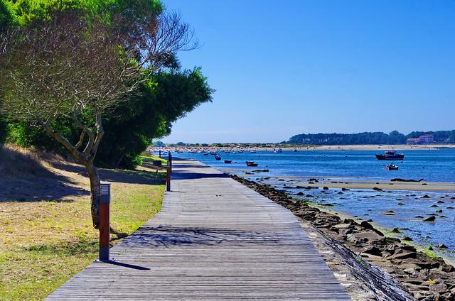 au Nord du Portugal août 2014 -  002 l'estuaire du Rio Miño - frontière entre l'Espagne (Gallice) et le Portugal