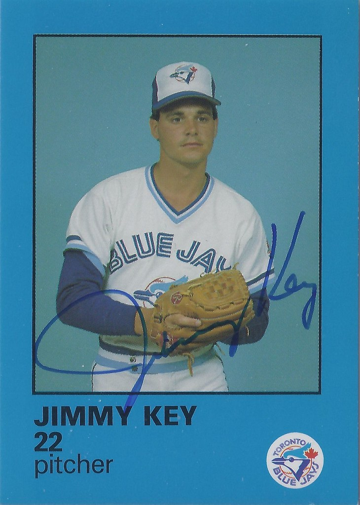 1985 Fire Safety Jimmy Key 22 16 Pitcher Autog