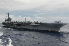 In this file photo, USS George Washington (CVN 73) operates in the Philippine Sea in October while on patrol in U.S. 7th Fleet. (U.S. Navy photo by Mass Communication Specialist Seaman David Flewellyn)