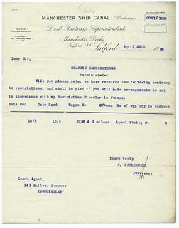 Manchester Ship Canal Railways letterhead 1920 | by ian.dinmore