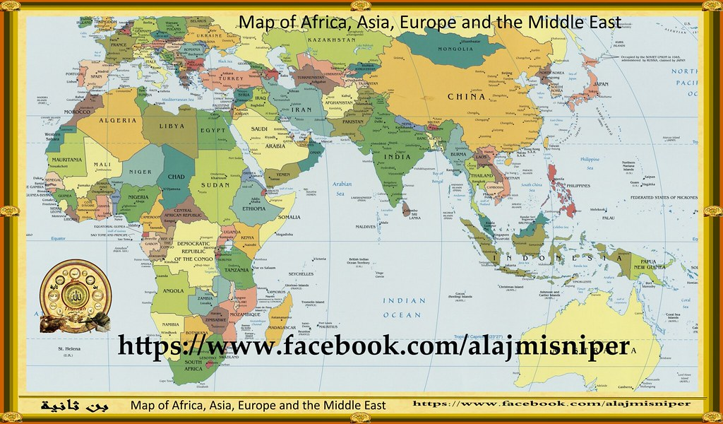 Map Of Africa Europe.Africa Europe And Asia Map خريطة الشرق الاوسط Map Of The M Flickr