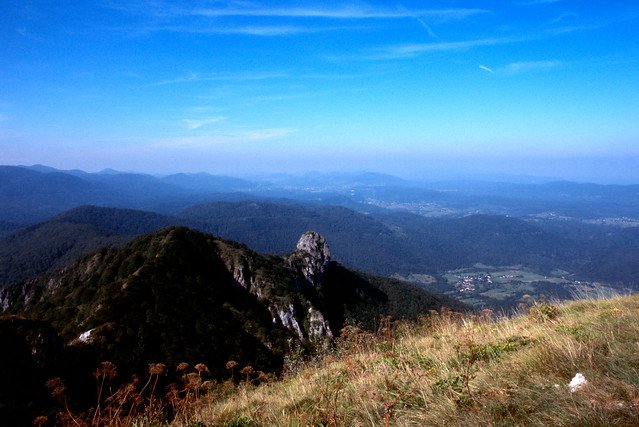 A view from Klek mountain top