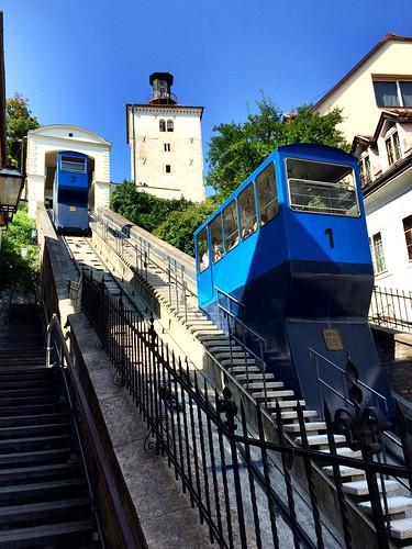 Zagreb, Croatie. Le funiculaire | by emilio59