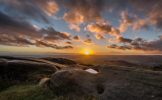 An Evening On Higger Tor....