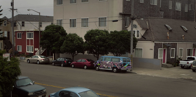 Grafitti van on Great Highway; The Sunset, San Francisco (2014)