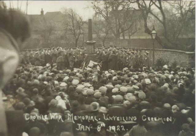 Unveiling Crowle War Memorial