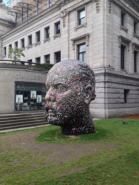 Douglas Coupland Gum Head at the Vancouver Art Gallery