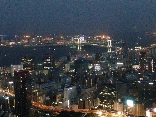 Rainbow bridge & Odaiba from Tokyo Tower Special Observatory   by Lewis Craik