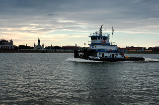 Tug on the Mississippi at Dusk | by John of Austin