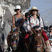 Veena riding Donkey in Oia Santorini_DxO