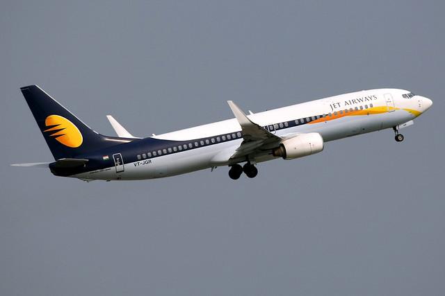 Jet Airways   Boeing 737-800   VT-JGR   Bangkok Suvarnabhumi