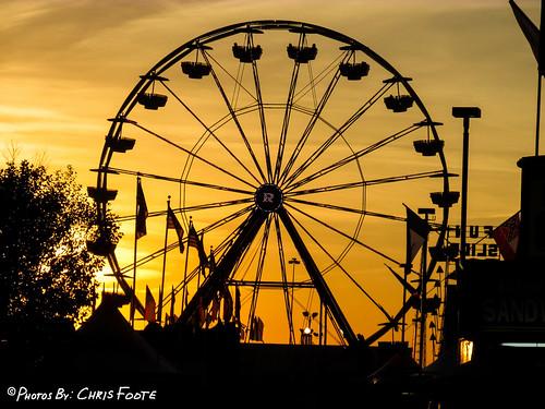 sunset silhouette fair ferriswheel perry ganationalfair
