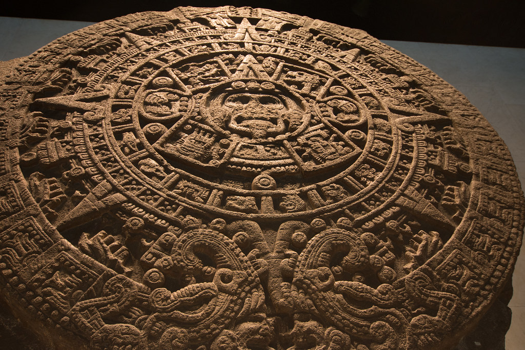 Aztec Calendar Stone.Aztec Calendar Stone Sun Stone Or Stone Of The Five Eras Flickr