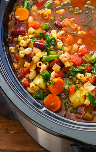 Homemade-Minestrone-Soup-{Slow-Cooker}-4 | by littlespicejar
