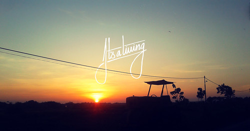 sunshine sunrise landscape typography text phonetography situbondo