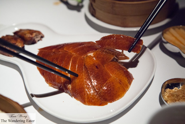 The sliced Peking duck - and we can't wait to dig in!