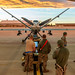 Airmen of the 49th Aircraft Maintenance Squadron perform a post-flight check of an MQ-9 Reaper remotely piloted aircraft at Holloman Air Force Base, N.M., Dec. 16, 2016. The squadron supports the 6th Reconnaissance Squadron as well as the 9th and 29th Attack Squadrons, enabling the graduation of pilots and sensor operators in support of the Air Force's largest Formal Training Unit. (U.S. Air Force photo by J.M. Eddins Jr.)