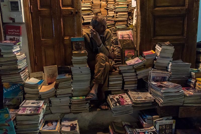 Bookshop in Rabat's Medina