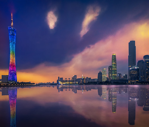 Guangzhou & Sunset | by Luís Henrique Boucault