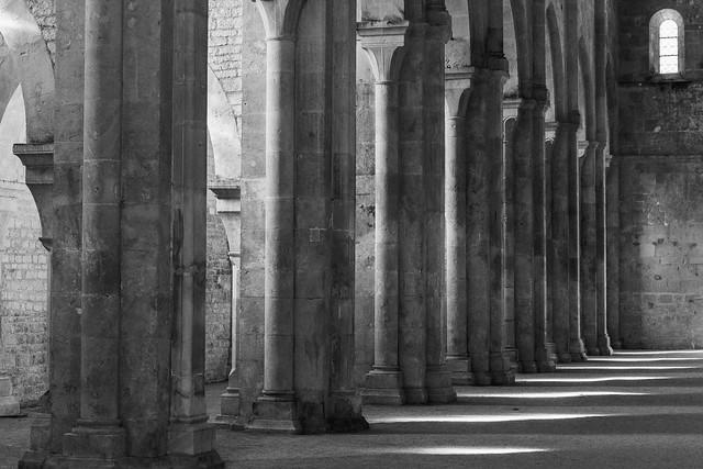 Abbey de Fontenay, Burgundy, nave