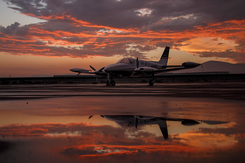 california sunset airport afterthestorm aircraft cable socal cessna upland 2015 340a n888mt