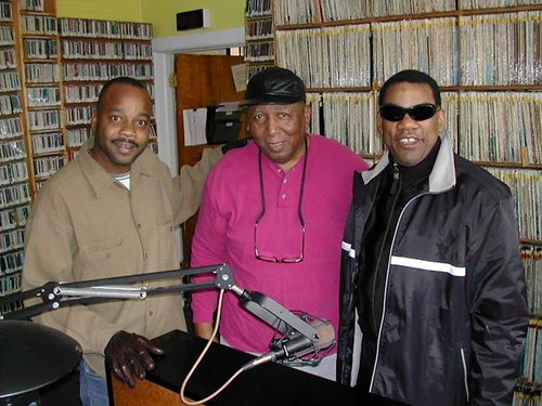 James Andrews, Bob French, Henry Butler on Dec. 27, 2003 for Bob French's 65th birthday.