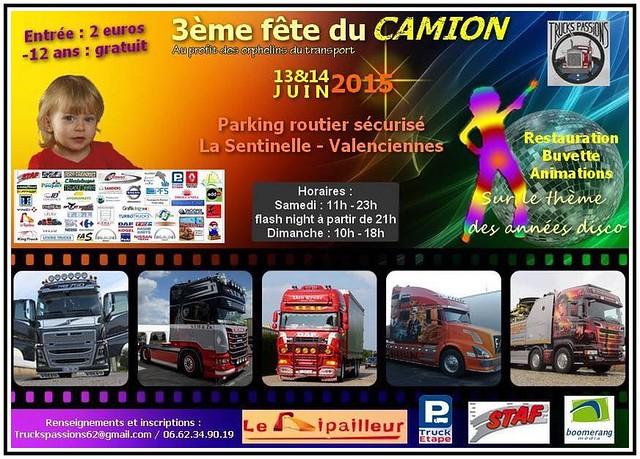 3ème Fête du Camion Valenciennes 13 & 14 Juin 2015.