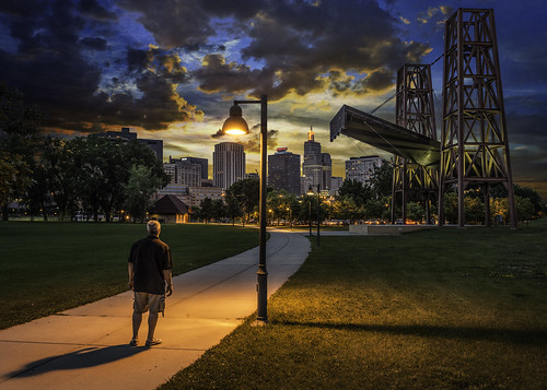 park city light sunset sky saint minnesota architecture night clouds buildings river mississippi paul island person boat downtown cityscape view stage stpaul trail showboat target twincities saintpaul mn riverwalk goldenratio padelford harriettisland
