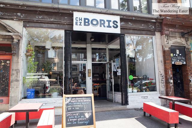Exterior of Chez Boris