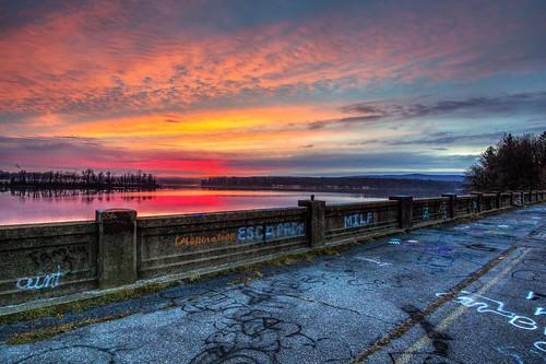 sunrise lake water morning