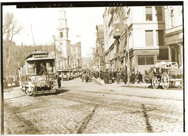 Columbus Ave Street Car [Tremont Street]