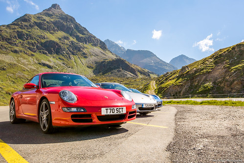 Porsche 911 lineup, Scenic road, Switzerland | by TomScottPhoto