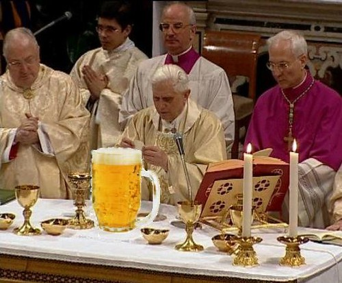 German Pope Photo Joke