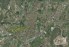 Santiago de Compostela desde el cielo.