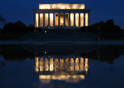 Lincoln Memorial and a drained reflection pool | by Jason Pratt