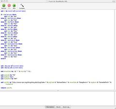 AppleScript Screenshot.