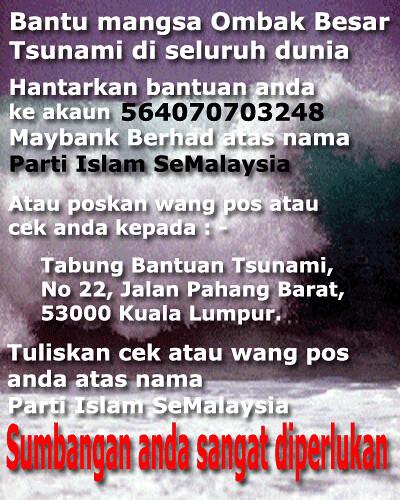 bantuan mangsa ombak tsunami